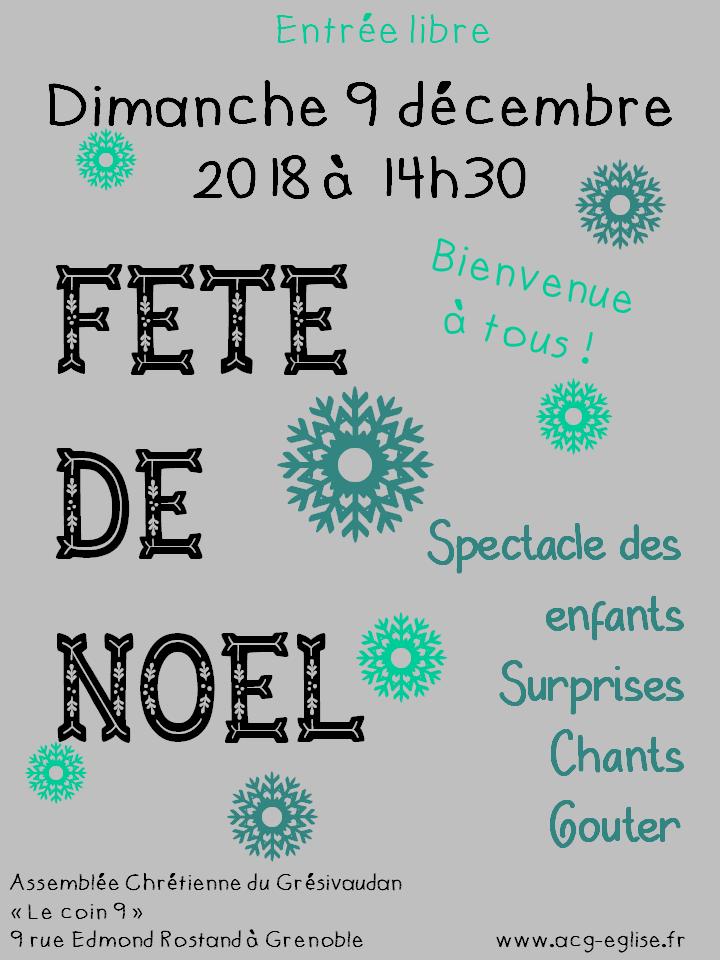 Affiche noel 2018 voisins